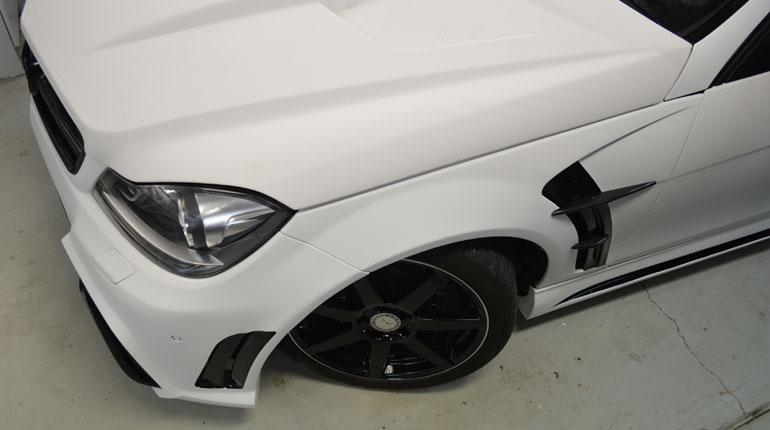Supreme Vinyl Mercedes C250 Car Wrap Canberra
