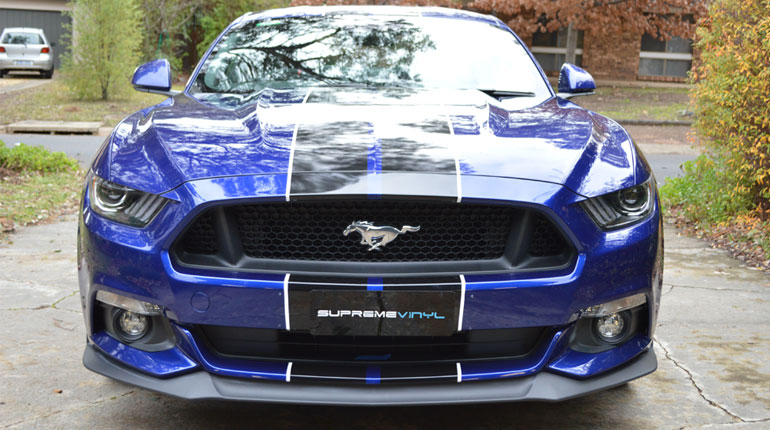 Matte Black Mustang >> Supreme Vinyl - Ford Mustang Vinyl Wrap Canberra